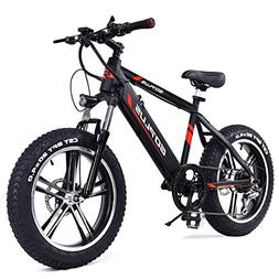 "Goplus 20"" Electric Mountain Bike Bicycle E-Bike Fat Tire Sn"