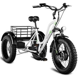 "Goplus Electric Trike 20"" Fat Tire Electric Tricycle for Adu"