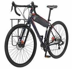 Mongoose Men's Elroy Adventure Bike 700C Wheel Bicycle, Blue