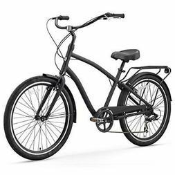 sixthreezero EVRYjourney Men's 7-Speed Hybrid Cruiser Bicycl