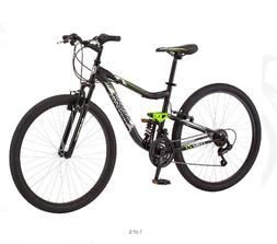"27.5"" Mongoose Excursion Mens Mountain Bike, Black/Orange"