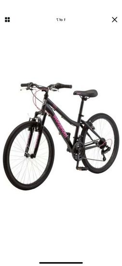 "🔥Mongoose Excursion Mountain Bike, Girls, Female, 24"", Bl"