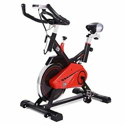Goplus Exercise Bike Indoor Cycle Bike Stationary Trainer Bi