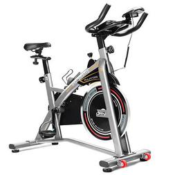 Exercise Bike LCD Display Adjustable Seat Handlebars Indoor