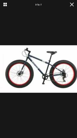 Mongoose Fat Tire Bike Men's Black Steel Frame 7 Speed Off R
