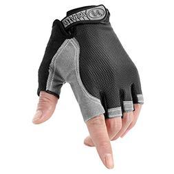 Unisex Fingerless Cycling Gloves Racing Mitten Adults Half F
