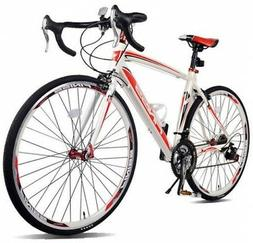 Merax Finiss Aluminum 21 Speed 700C Road Bike Racing Bicycle