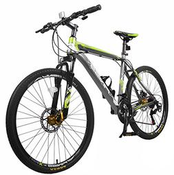 "Merax Finiss 26"" Aluminum 21 Speed Mountain Bike with Disc B"