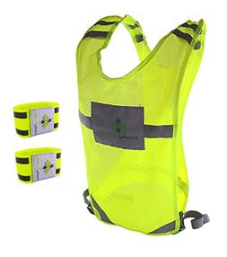 Firefly Buddy Reflective Running Vest with 2 Arm Bands