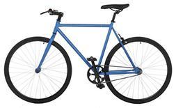 Vilano Fixed Gear Bike Fixie Single Speed Road Bike, Blue/Bl
