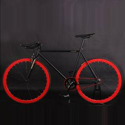 Fixed Gear Fixie Bike 52cm Frame Cyling Road Bike aluminum A