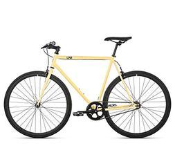 6KU Fixed Gear Single Speed Urban Fixie Road Bike, Tan, 58cm