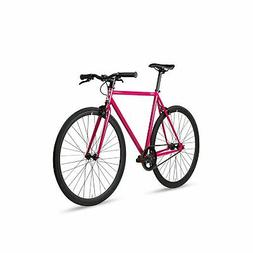 6KU Fixed Gear Single Speed Urban Fixie Road Bike Fuchsia 49