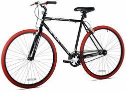 Kent Fixie Bike 700C Black Red Men's Single Speed Sport City