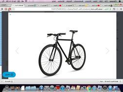 fixie bike nebula black