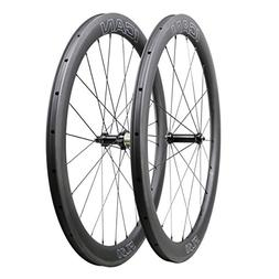 ICAN FL50 Carbon Road Bicycle Wheelset Clincher Tubeless Rea