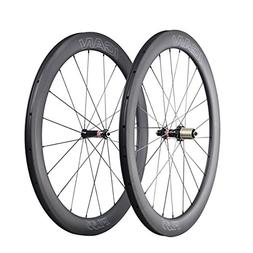ICAN FL55 700C Carbon Road Bike Wheelset Clincher Tubeless R