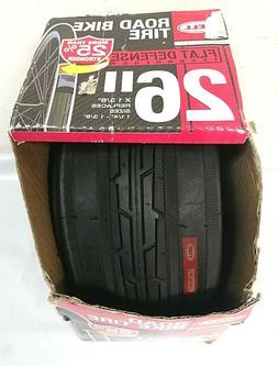 """Bell Flat Defense Road Bike Tire, 26"""" x 1.38-1.38, Black"""