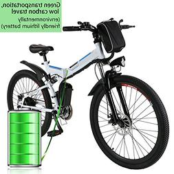 """Foldable Electric Mountain Bike 26"""" with 36V 8AH Large Cap"""