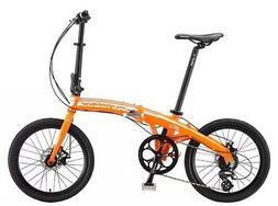 """Sundeal F2 Folding City Travel Alloy Bike 20"""" Disc Brake 8 S"""