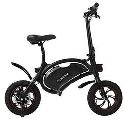ANCHEER Folding Electric Bicycle E-Bike Scooter 350W Powerfu