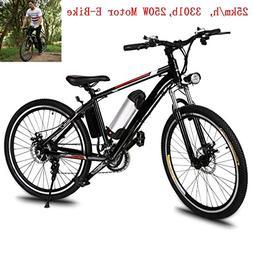Fashine 21-Speed Folding Electric Mountain Bike, 25 Inch Out
