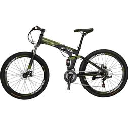 """27.5"""" Full Suspension Folding Mountain Bike 21 Speed Bicycle"""