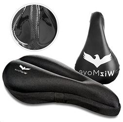WizMove Gel Bike Seat Cover | Bicycle Saddle Cushion with No