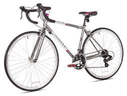 Giordano Acciao Venus Women's Road Bike, 700c, Grey/White/Pi