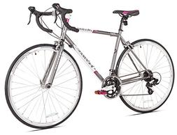 Venus Giordano Acciao Women's Road Bike, 700c, Grey/White/Pi