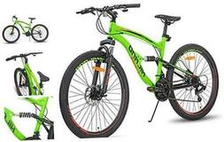 Hiland 26 Inch Dual-Suspension Mountain Bike 21Speed MTB Bic