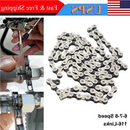 IG51 Bicycle Chain 6-7-8 Speed 116 Links MTB Road Bike Stain
