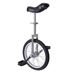 "16"" Inch Mountain Bike Wheel Frame Unicycle Cycling Chrome w"