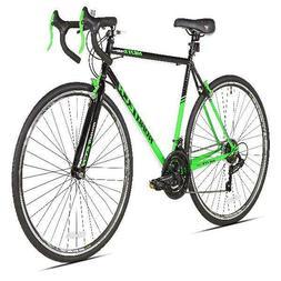 Kent 700c Mens RoadTech Road Bike Black/Green Steel Frame 21