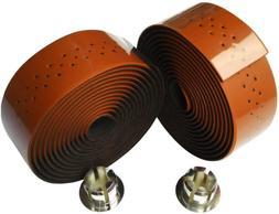 KINGOU Carbon Fiber PU Leather Road Bike Handlebar Tape Bar