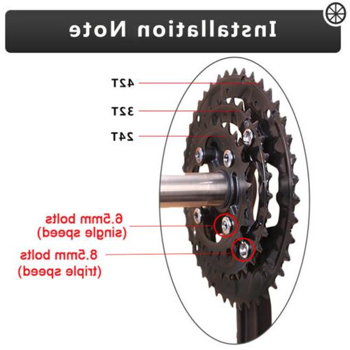 IXF 104/64bcd Triple Speed MTB Road Bike Chainring Crank Crankset