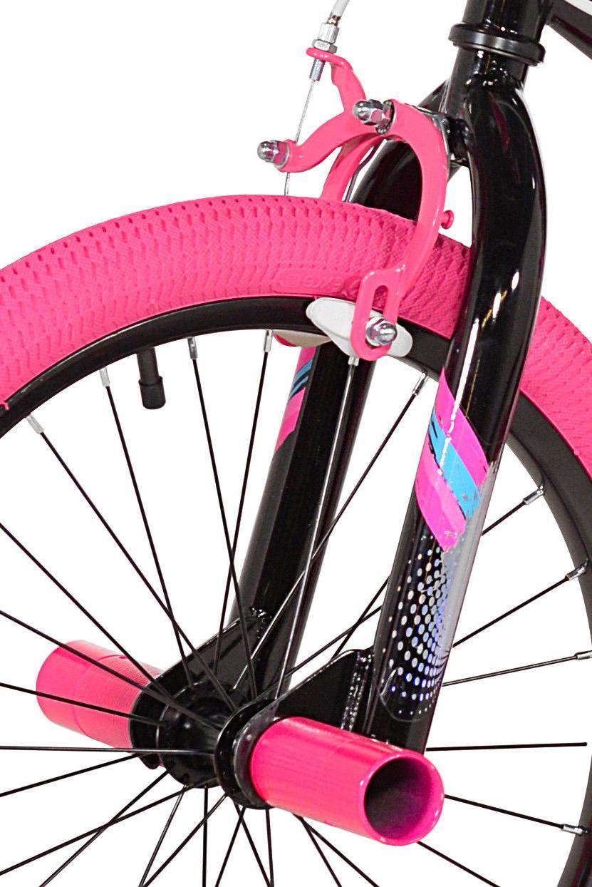 "Kent 18"" Girls', Bike, Black/Pink, For 6-9"