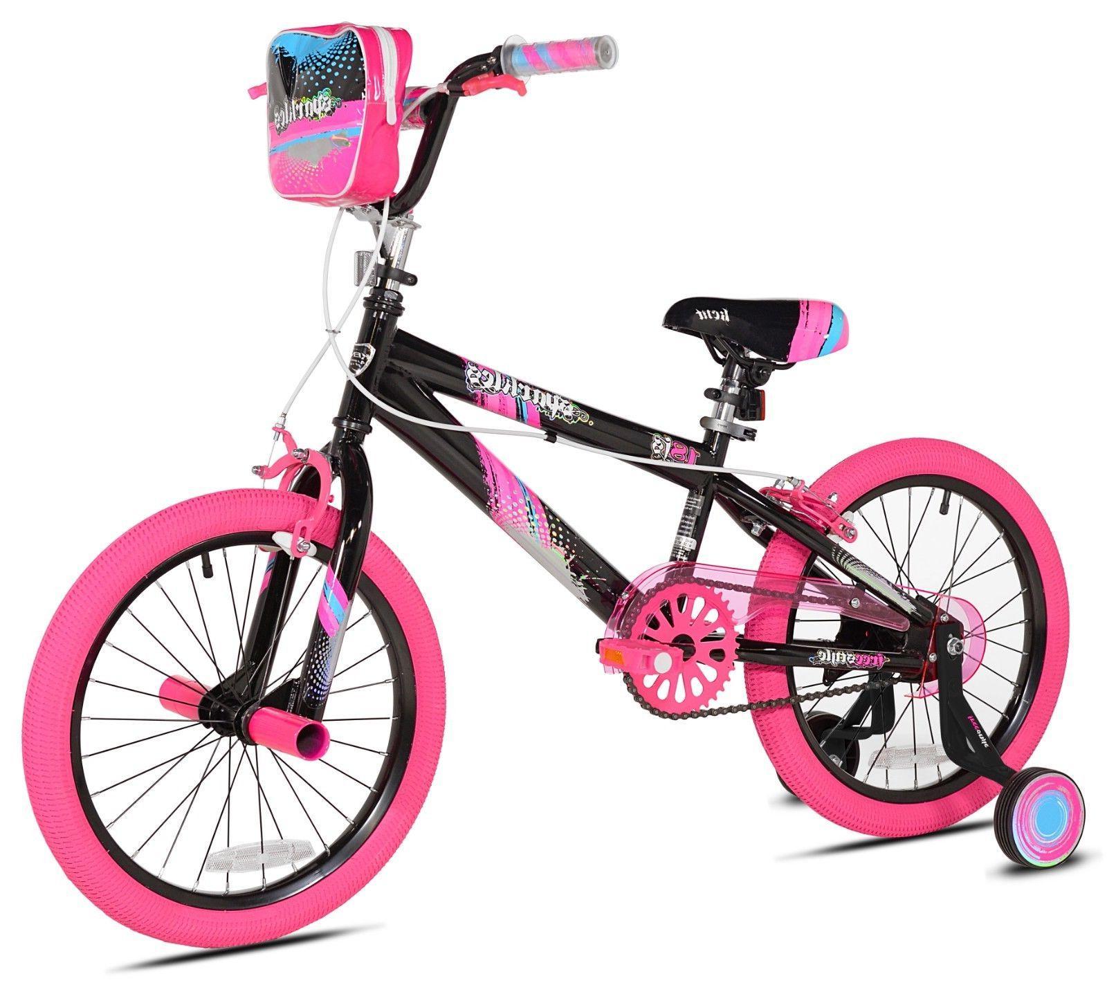 18 girls sparkles bike black pink