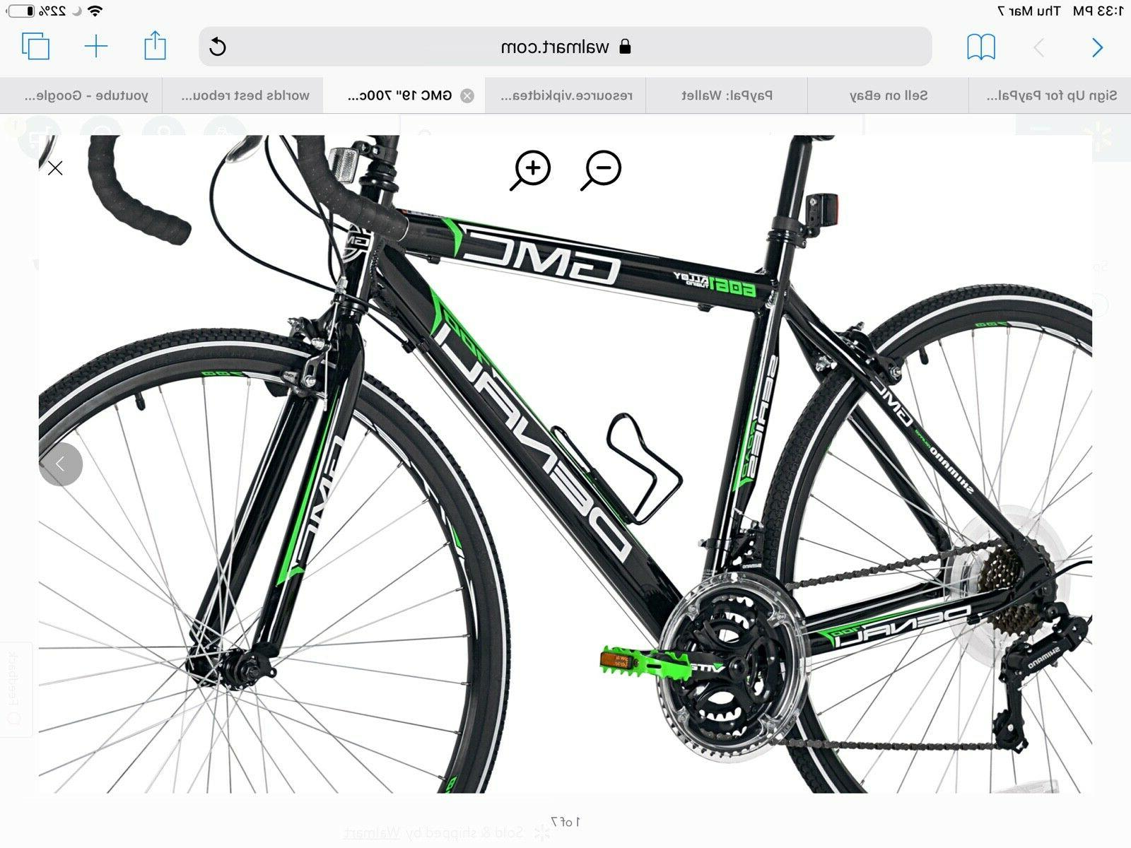 """GMC 19"""" Adult Denali Road tires Black/Green"""