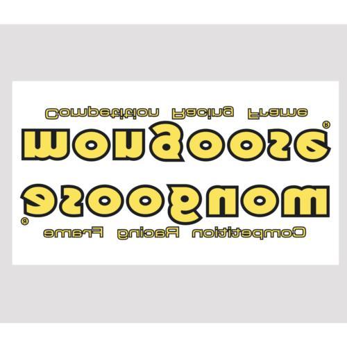 1983-85 Mongoose down tube decal - Yellow