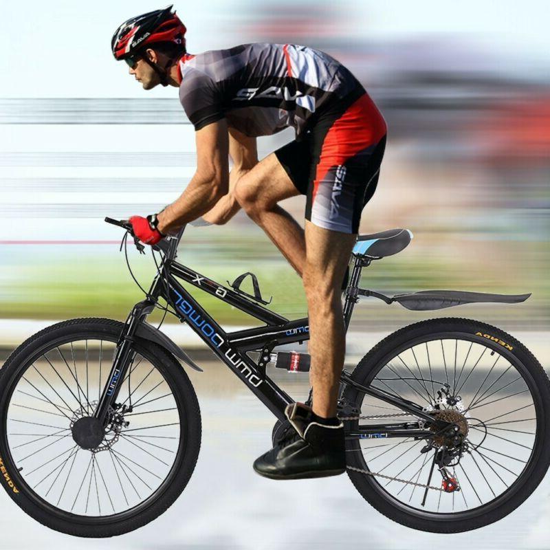 26 Inch Full Suspension Mountain Bike 21 Speed Folding Bicyc