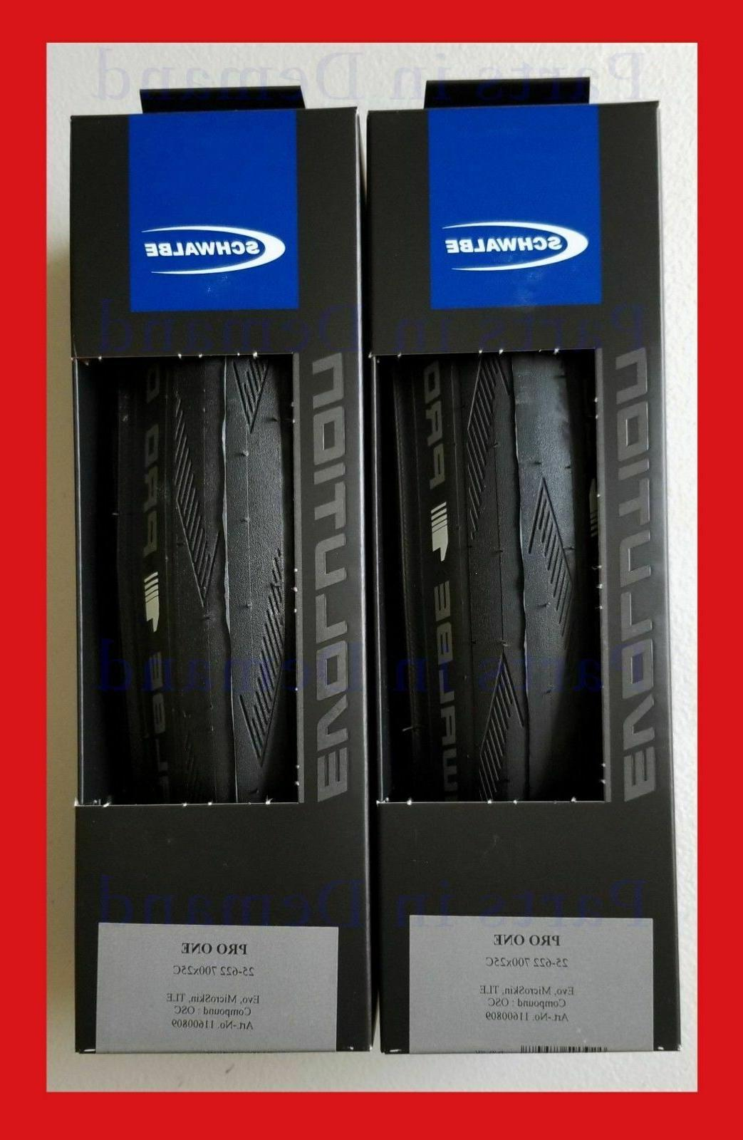 Schwalbe PRO ONE 2019 tubeless clincher 700 x 25 all black