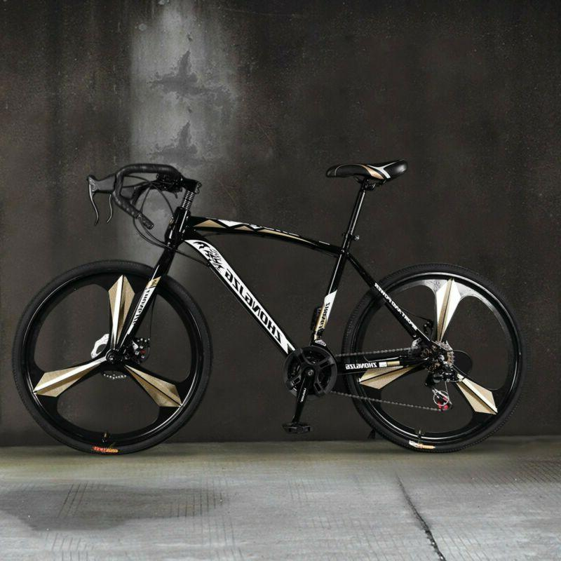 26in Aluminum Road Bike Full Suspension 21 Speed Disc Brakes