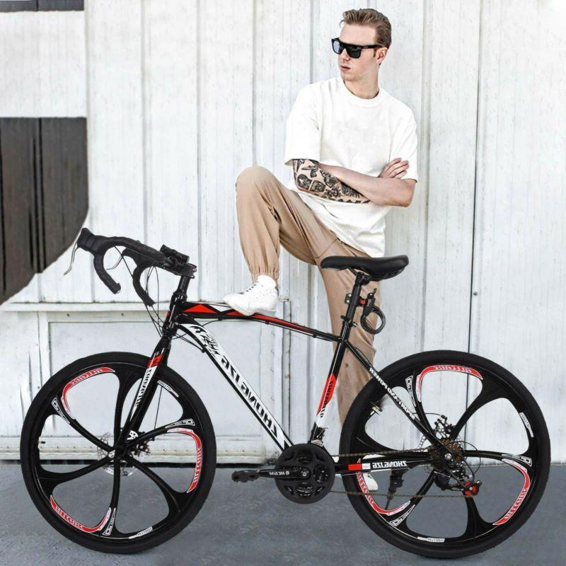 Road Bike Full Suspension21 Speed Bicycle Mens Bikes Daul Di
