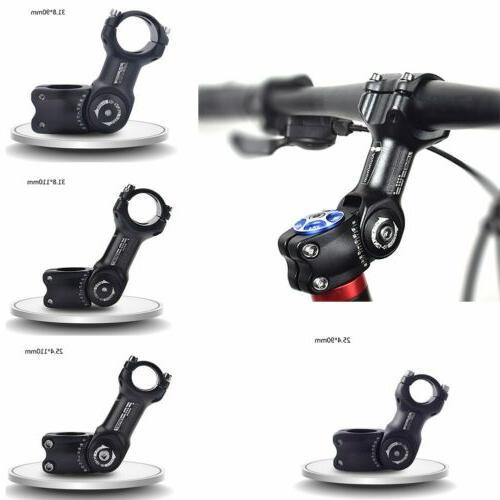 US 25.4/31.8mm Mountain Road Bike Adjustable Stem Riser MTB