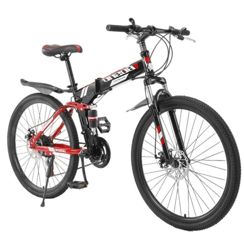 26inch Mountain Bike Shimano 21 Speed Bicycle Full Suspensio