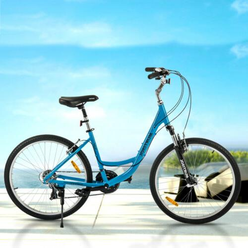 "26"" Women City Road Bike Aluminum 21 Speeds Shimano Bicycle"