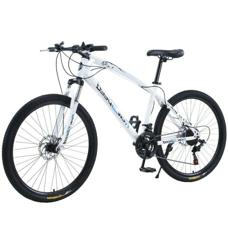 ❀26 Inch Mountain Bike With 21 Speed Dual Disc Brakes Full