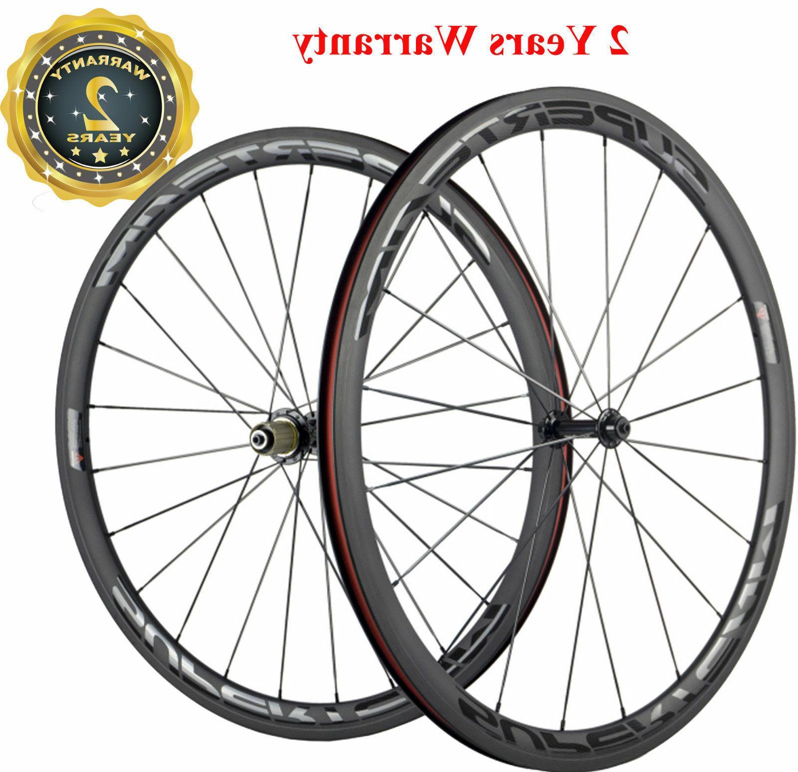 38mm clincher road bike wheels bicycle wheelset