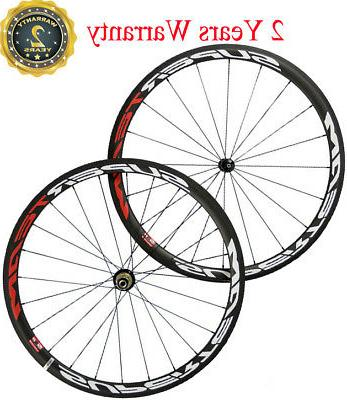 Superteam 700C Carbon Wheelset 38mm Clincher Road Bike Touri